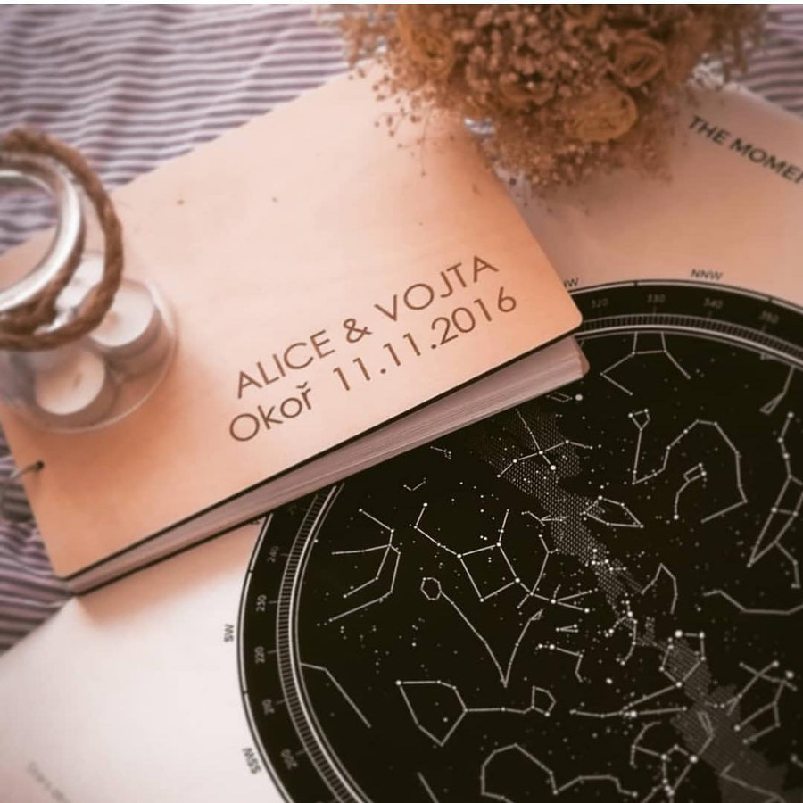 A special wedding guestbook for starstruck lovers- The star map!