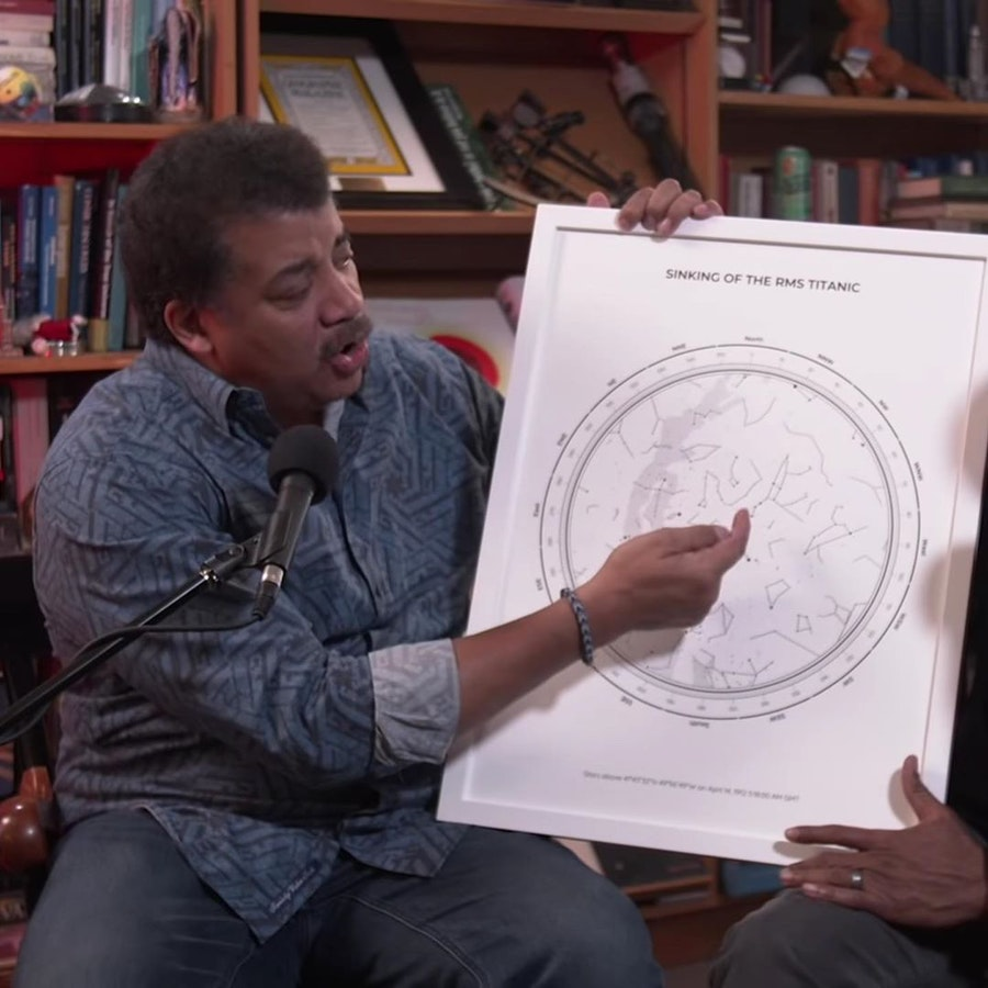 Neil deGrasse Tyson's Titanic star map